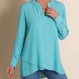 Soft Surroundings Blue Asymmetrical Tunic